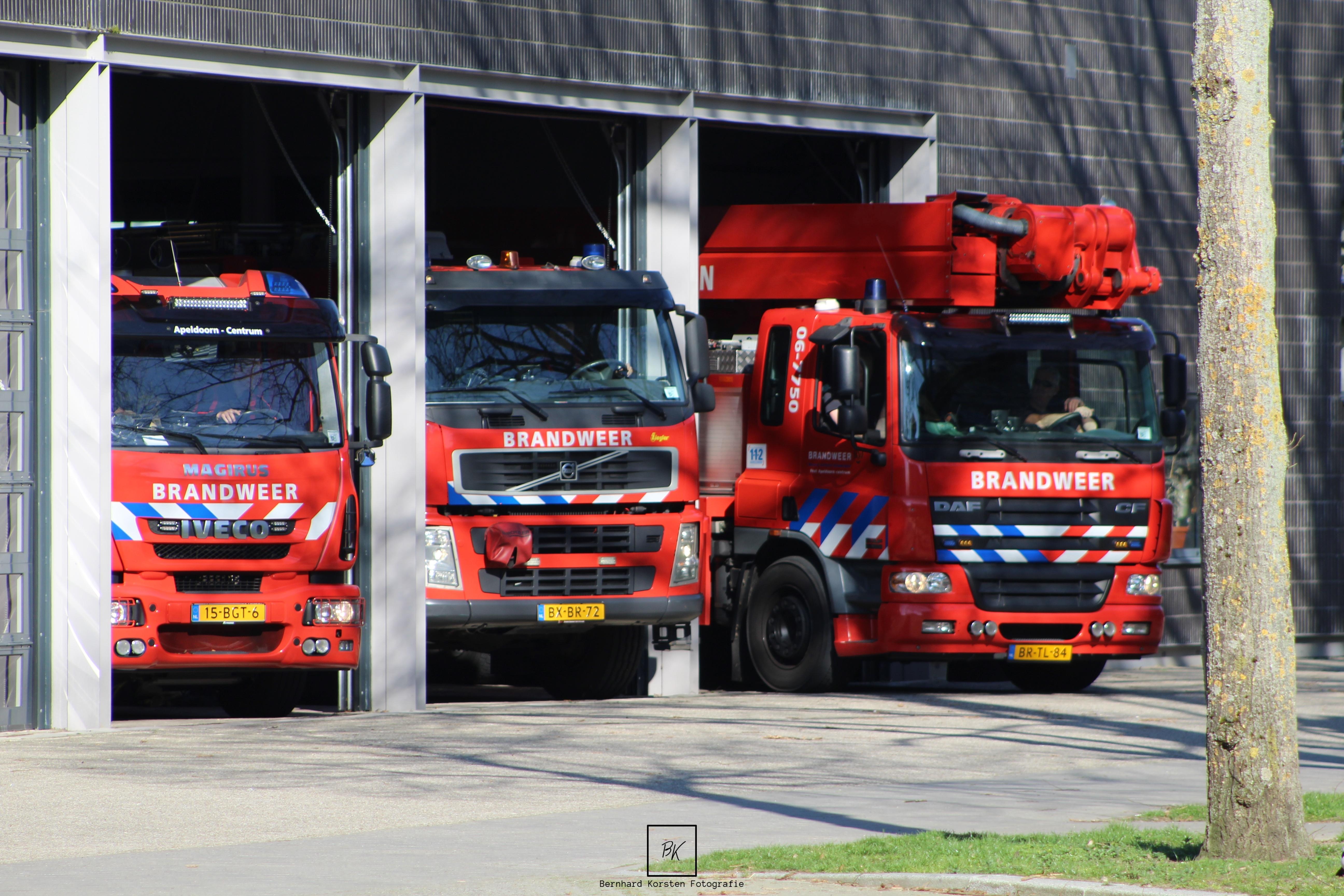 Drie brandweerkazernes samenvoegen tot één in Apeldoorn