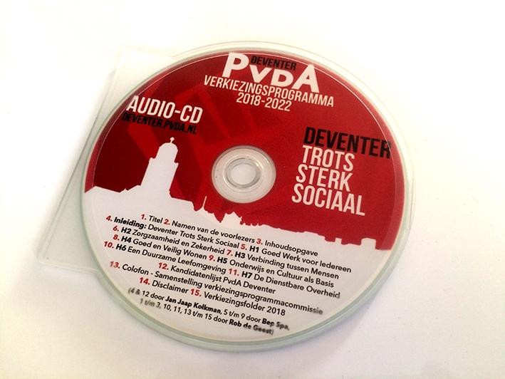 Primeur verkiezingsprogramma op cd