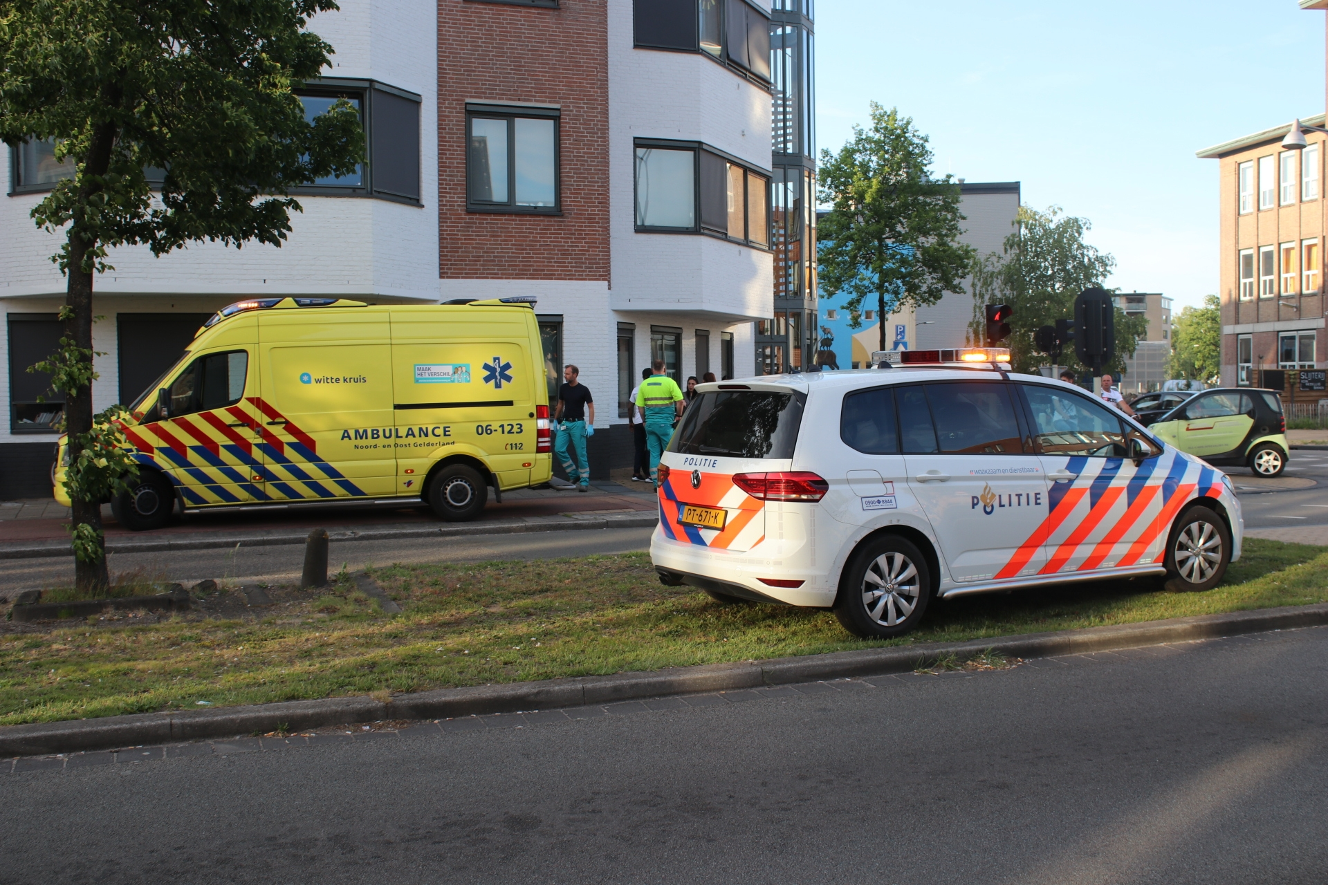 Ongeval op de Kalverstraat in Apeldoorn