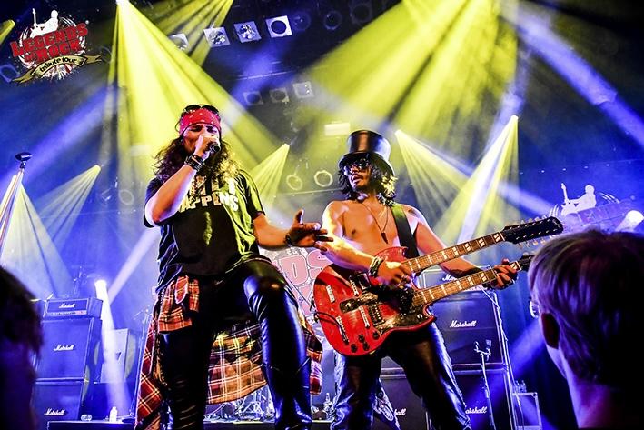 Eerbetoon aan groothedenvan de rockmuziek (en Queen)