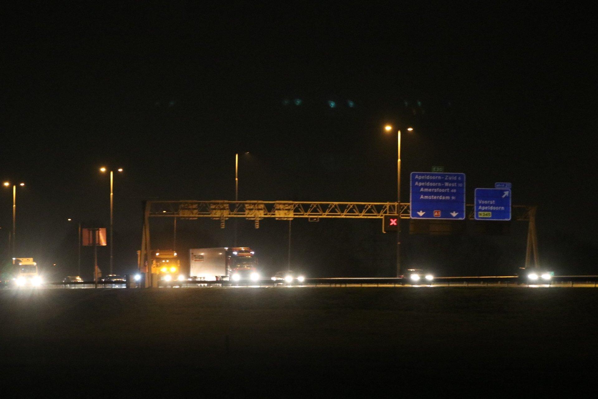 Opnieuw een ongeval op de A1 bij Voorst