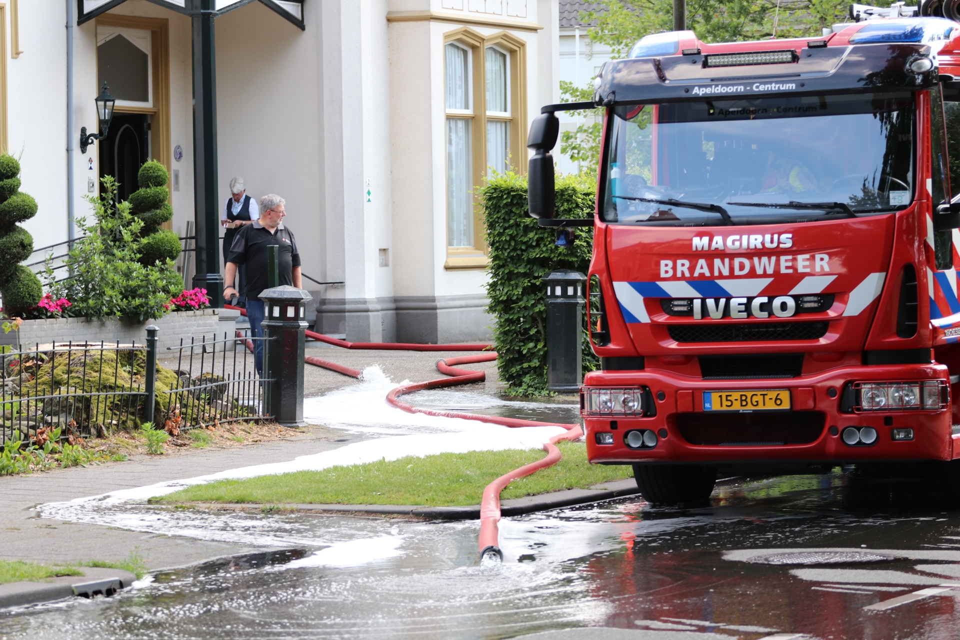 Waterleiding gebroken bij uitvaart centrum in Apeldoorn