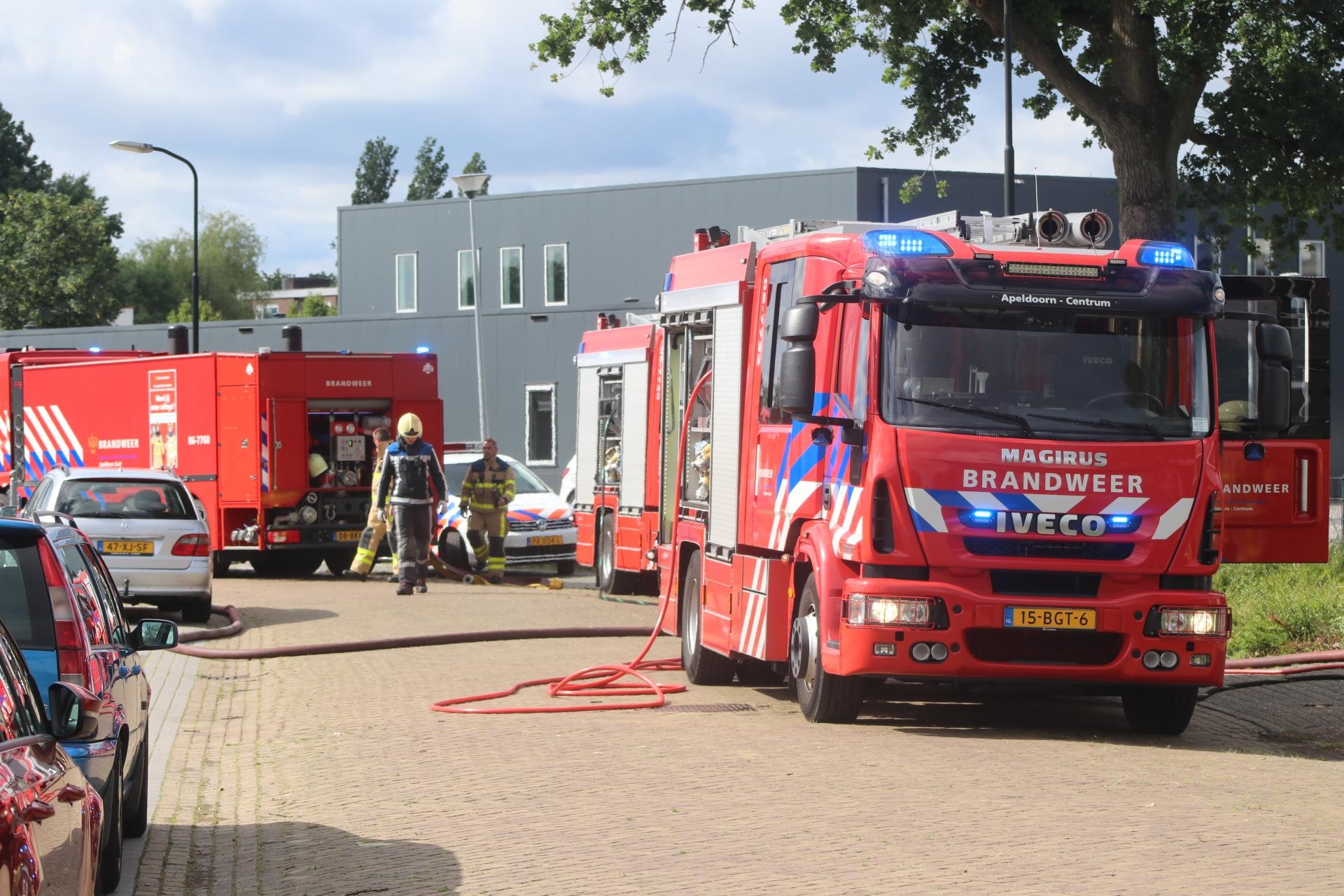 Brand in bedrijfspand aan de Condorweg in Apeldoorn