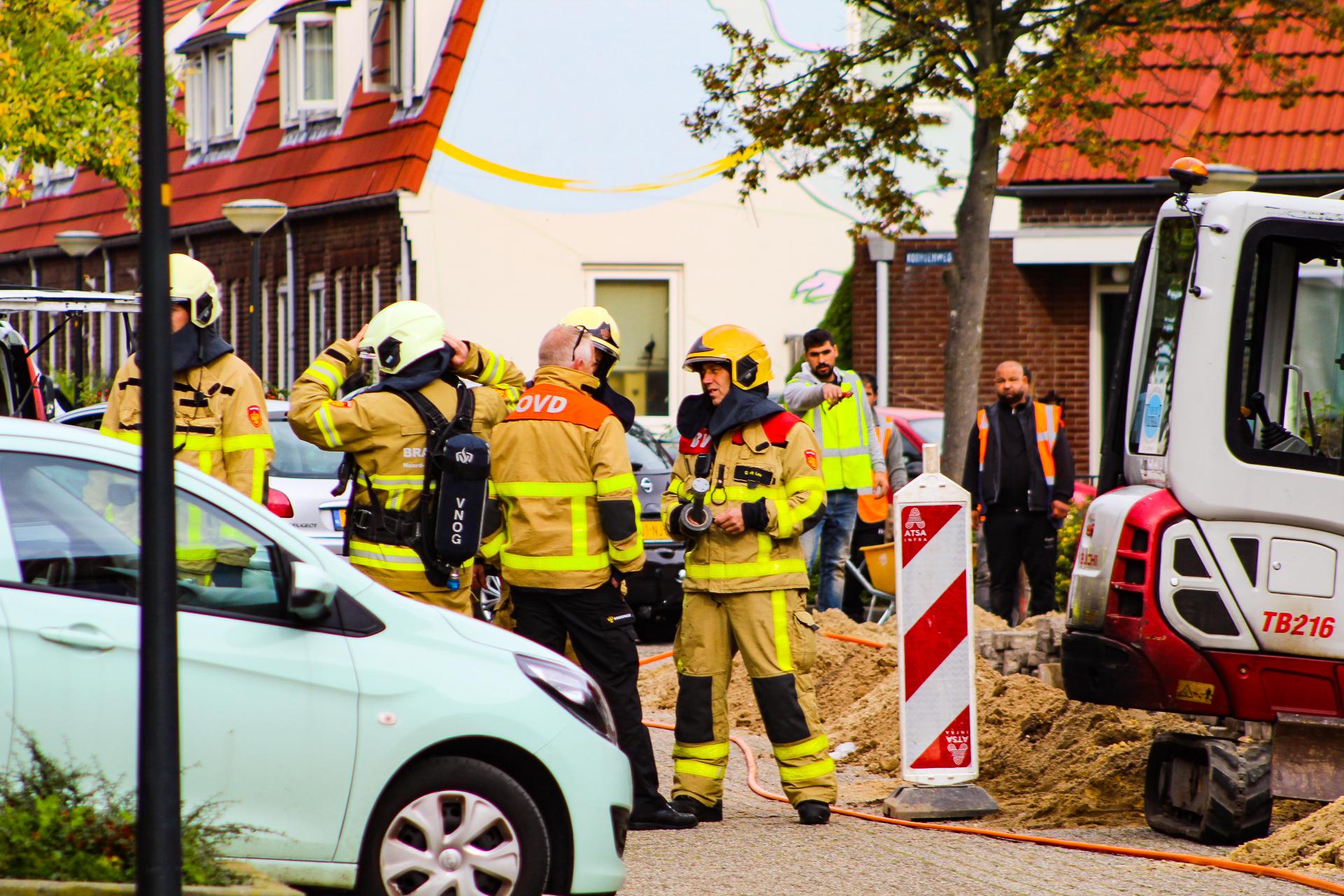Gasleiding geraakt tijdens graafwerkzaamheden in Apeldoorn Zuid