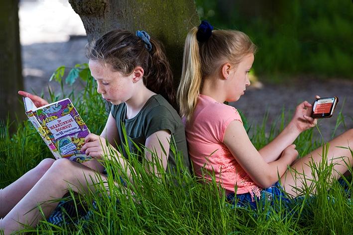 Nieuwe leesapp voor kinderen op vakantie