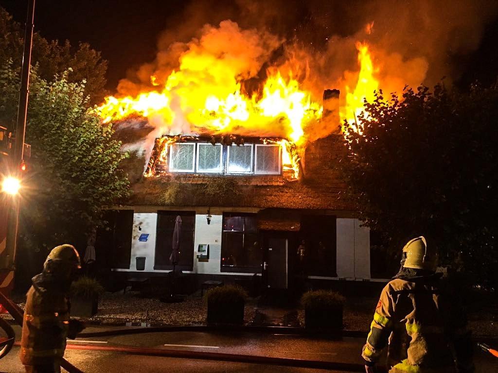 Grote brand in Restaurant Oene