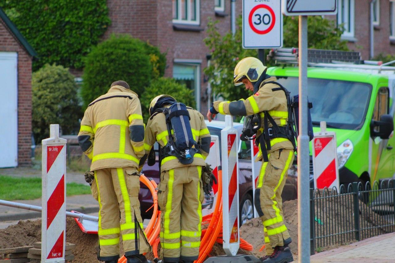 Gasleiding geraakt tijdens aanleggen glasvezel in Apeldoorn zuid