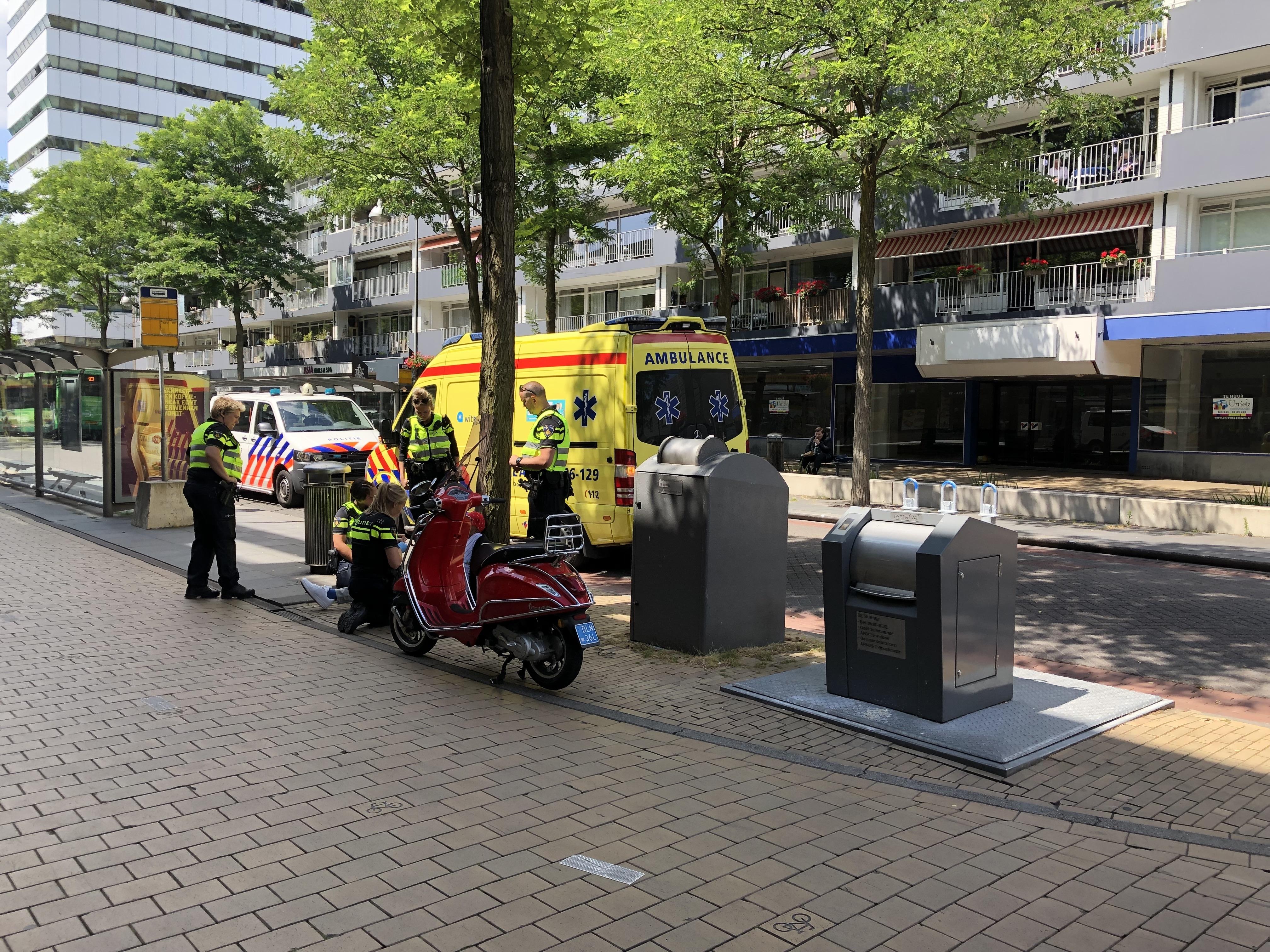 Twee personen gewond bij ongeval in de Hofstraat in Apeldoorn
