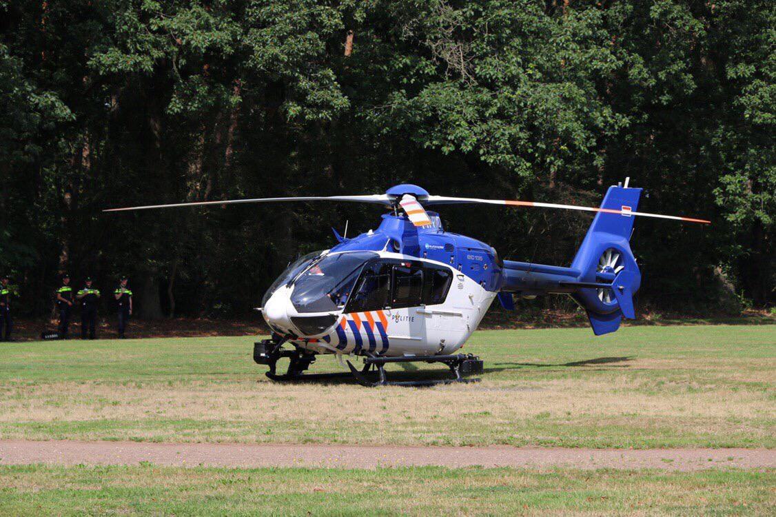 Helikopteroefening boven Apeldoorn Zuid