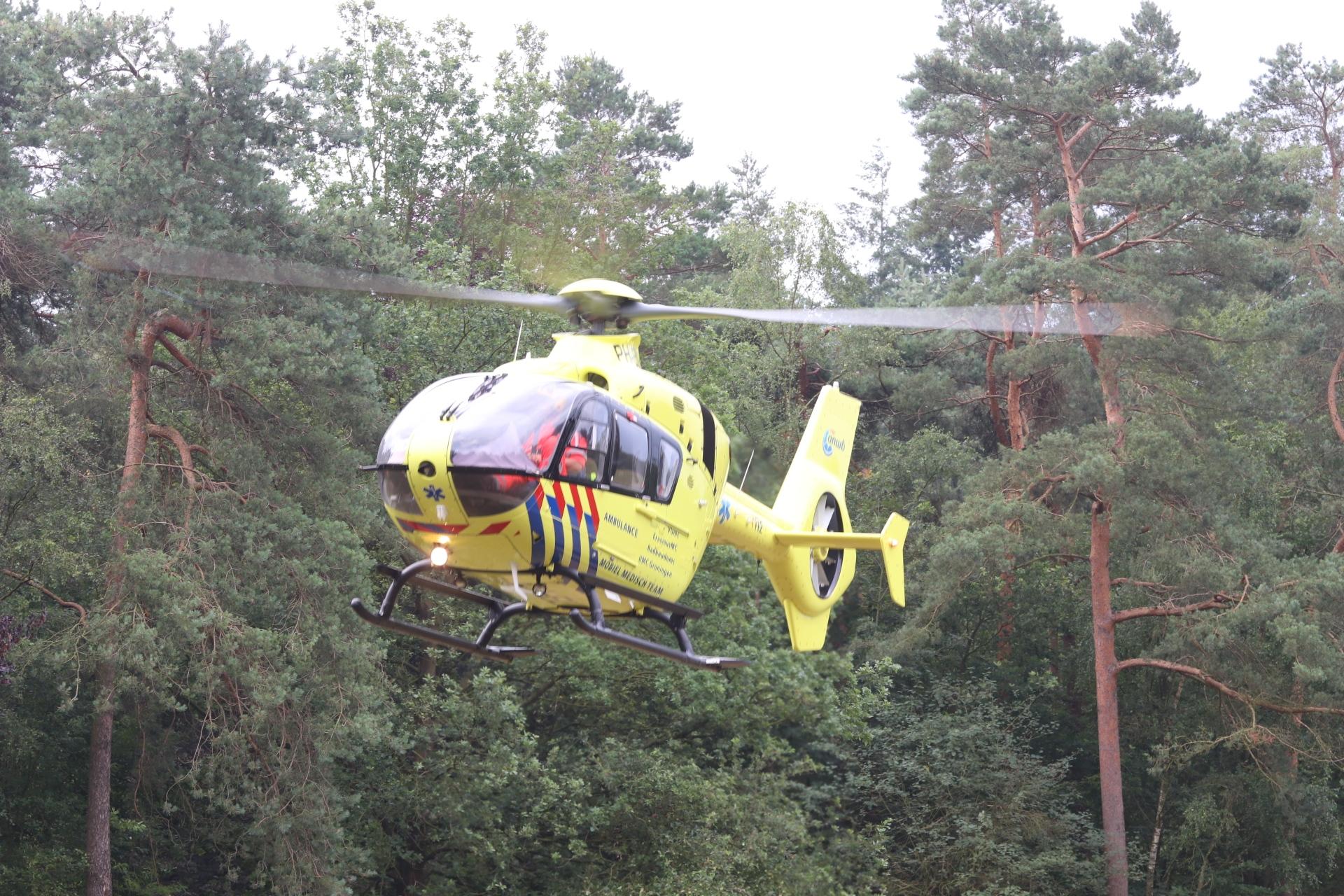 Traumahelikopter landt voor incident op het Kasteel in Apeldoorn