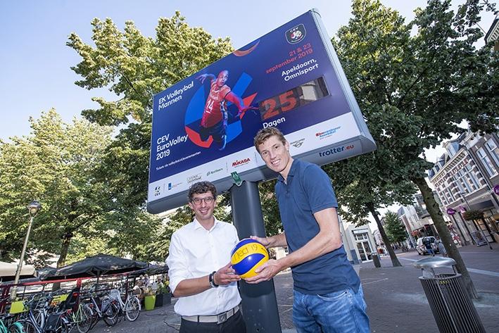 Apeldoorn telt af tot het EK Volleybal Mannen 2019