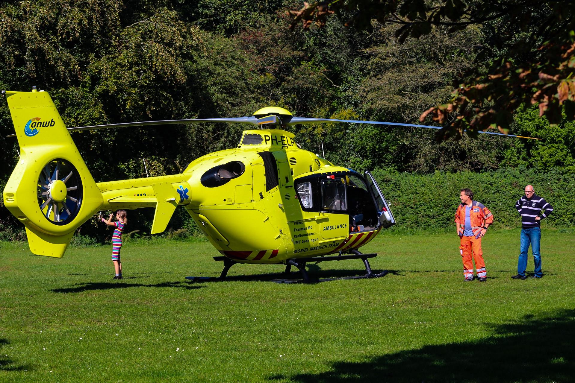 Traumahelikopter landt wegens ernstig incident