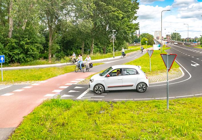 Aanzienlijk meer fietsers na verbetering fietsroute