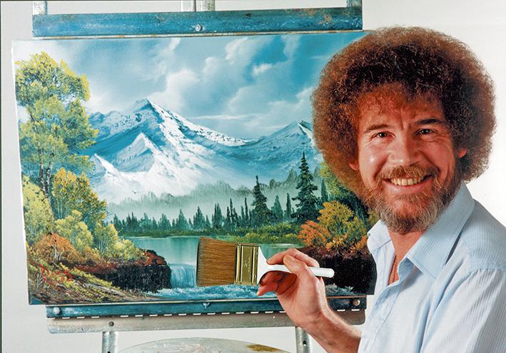 Een ontwapenend blije promotor van schildervreugde