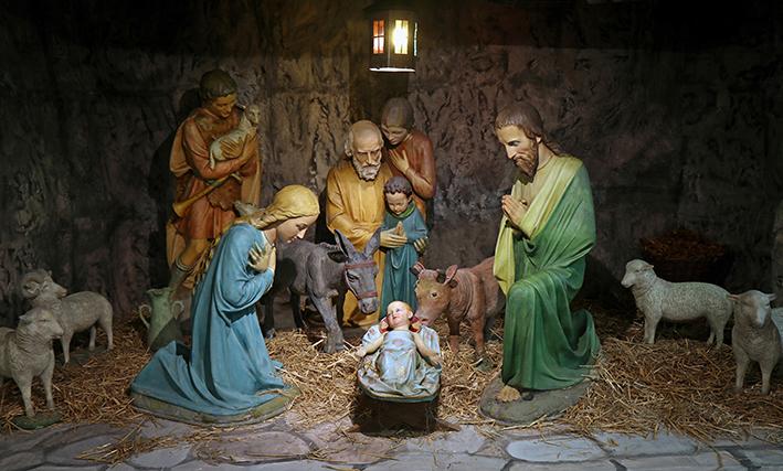 Kerk decor van één groot kerstverhaal
