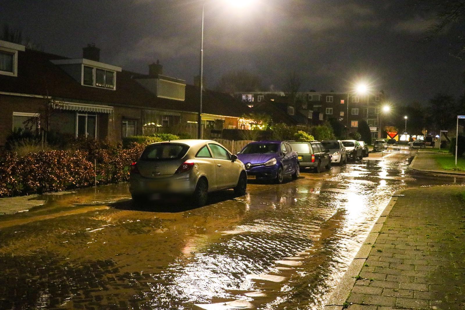 Troelstrastraat opnieuw getroffen door waterleidingbreuk