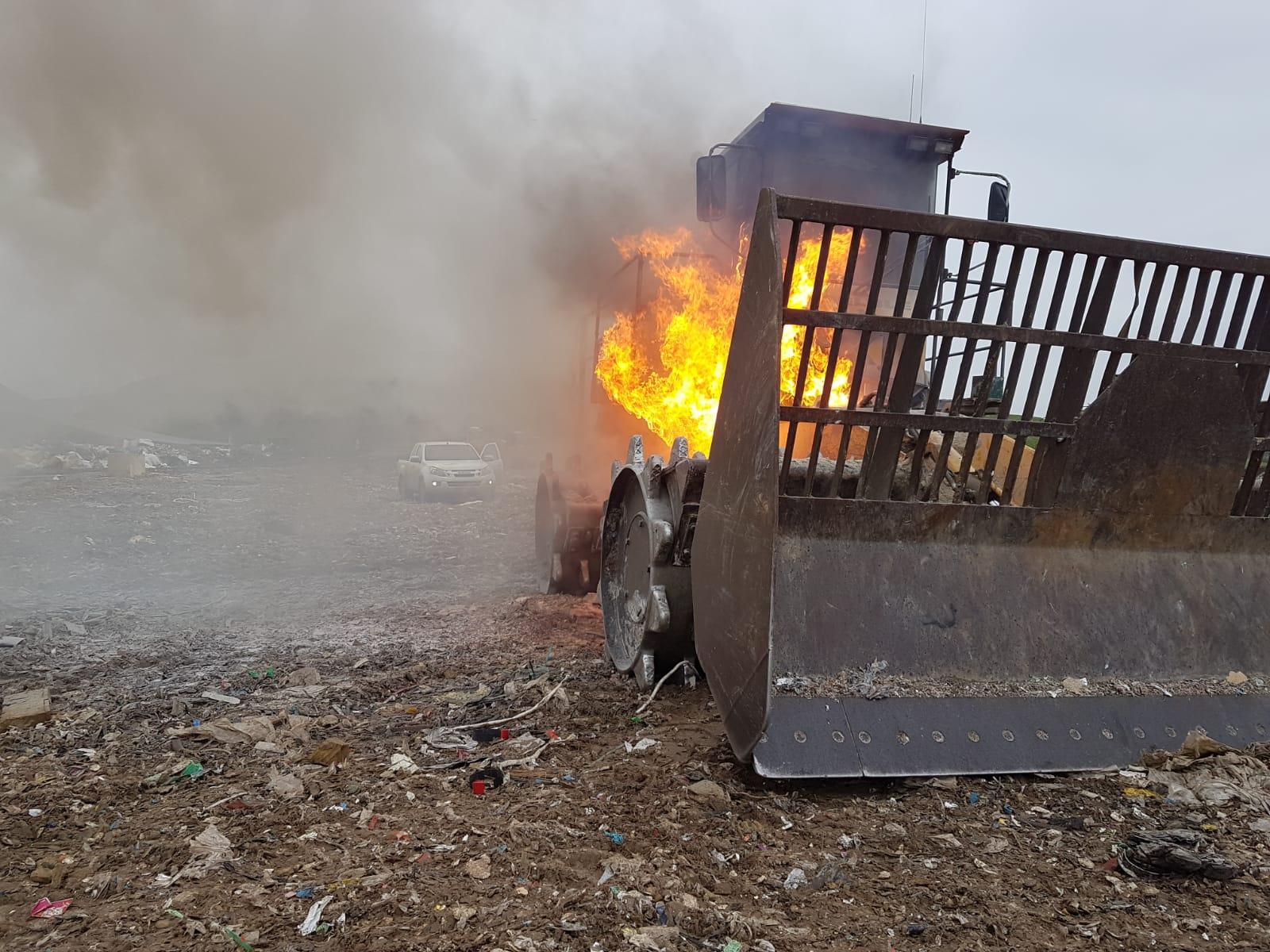 Machine in brand bij afvalverwerker in Wilp