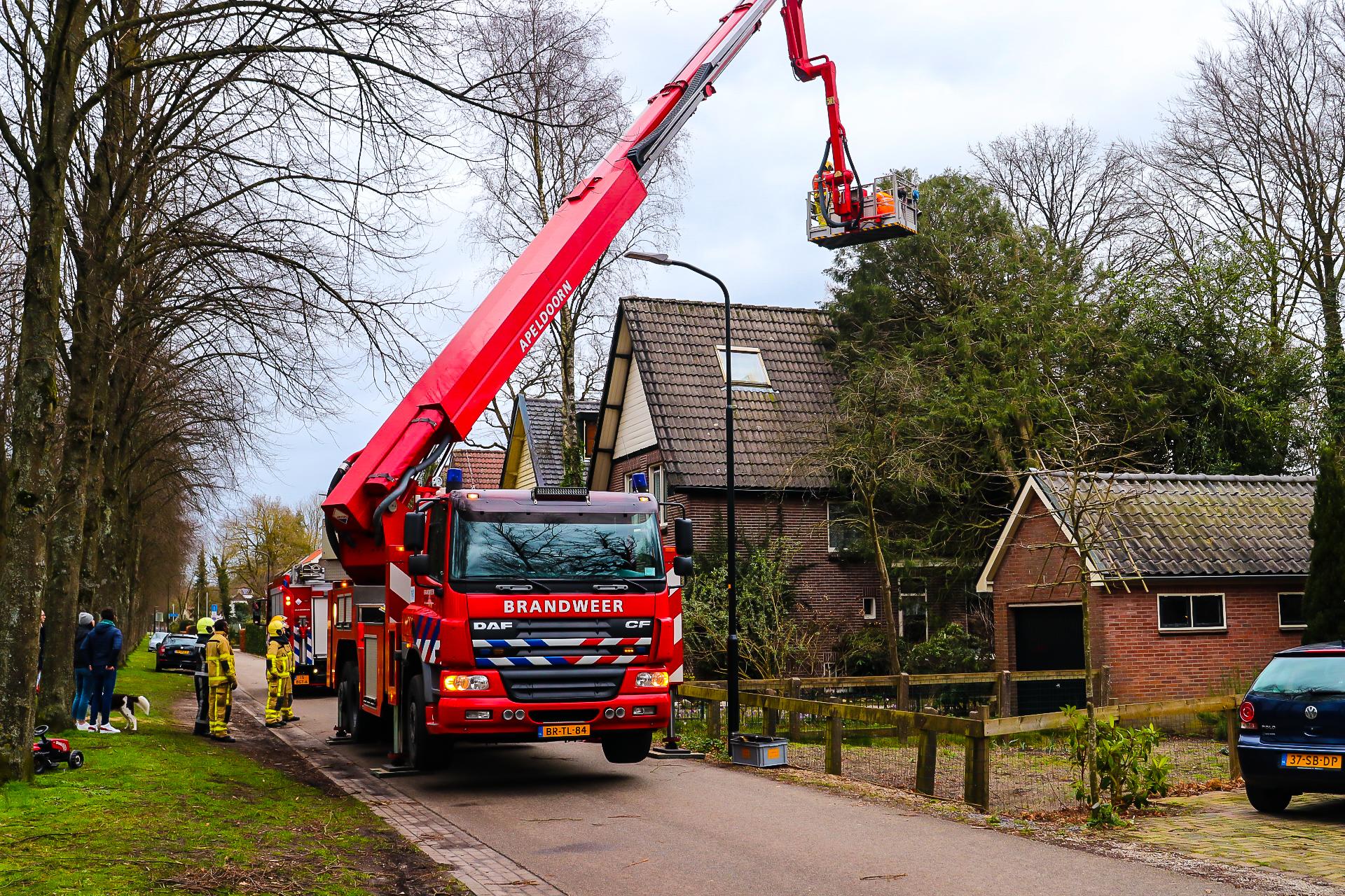 Brandweer had het zondagmiddag en -avond druk met 'storm' Dennis