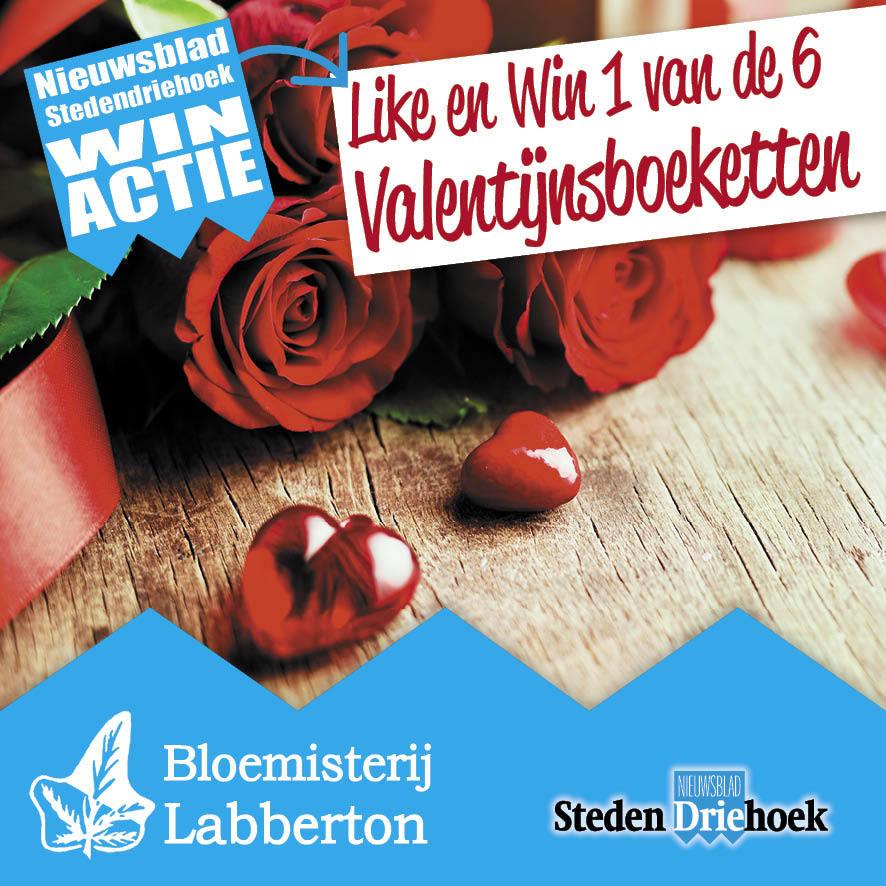 Win een van de zes Valentijnsboeketten van Bloemisterij Labberton