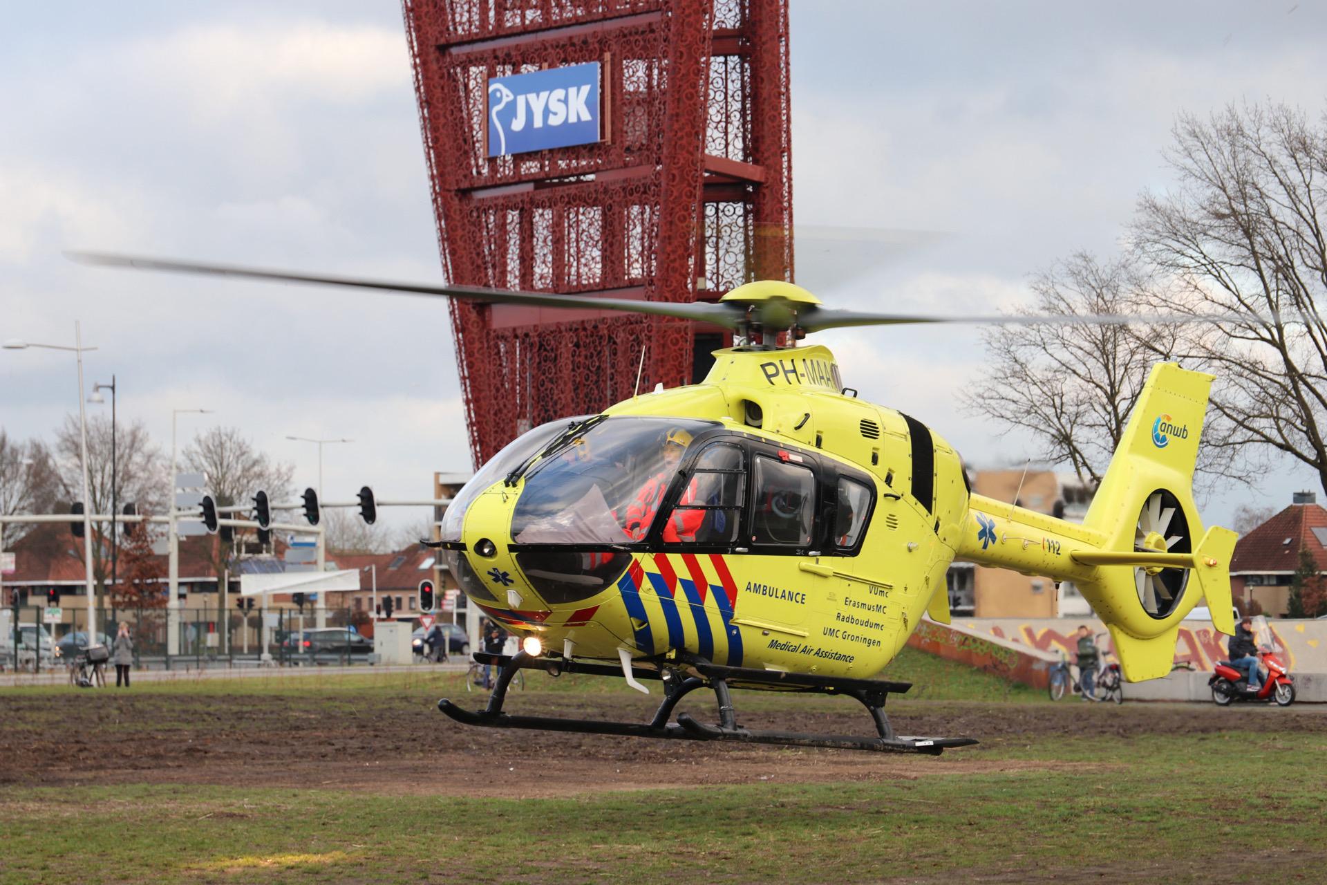 Extra traumahelikopter voor transport Coronapatiënten