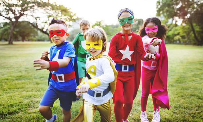 Superhelden rennen voor Kinderhulp