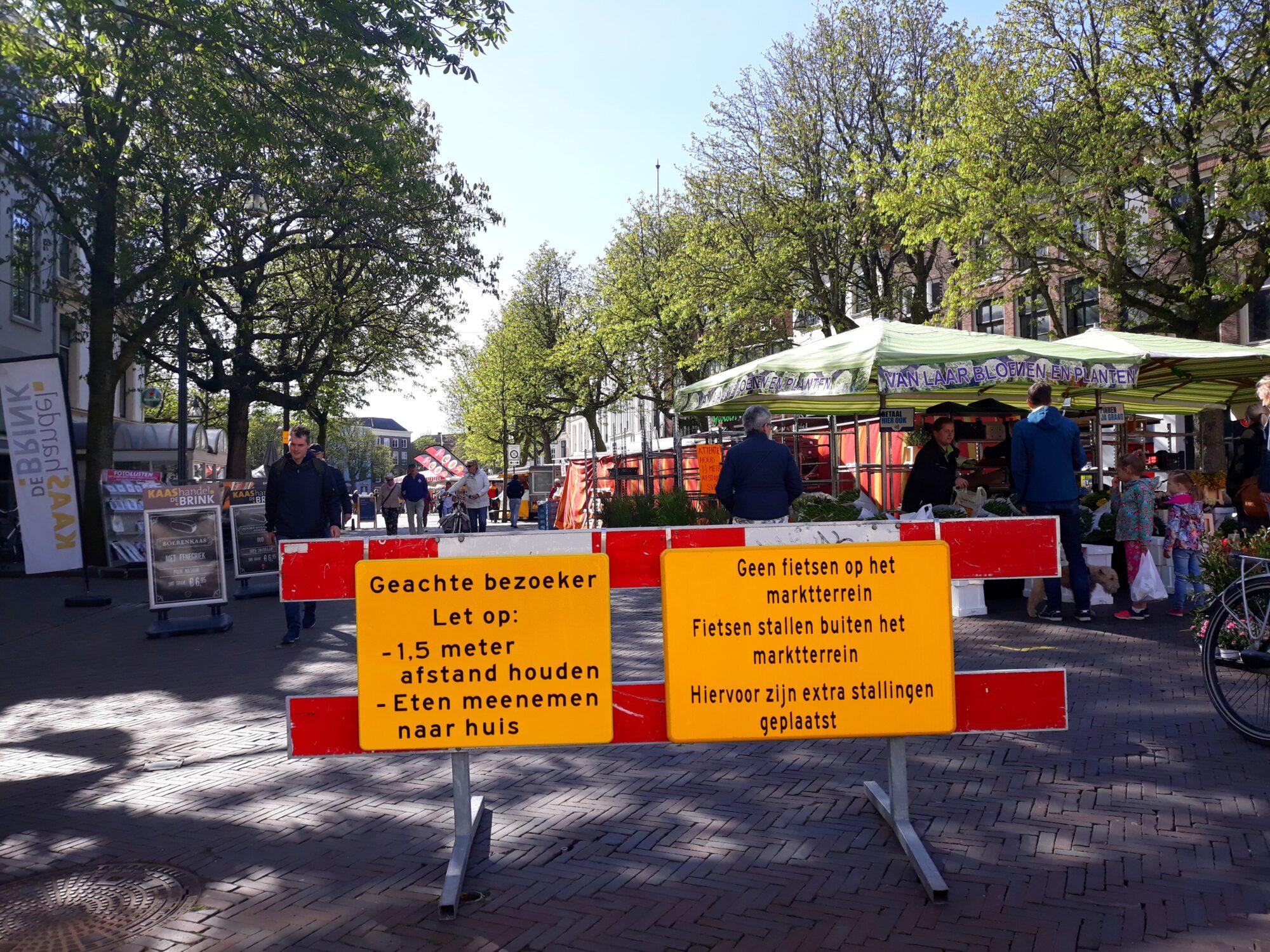 'Gewone' markt in Deventer trekt toch veel bezoekers