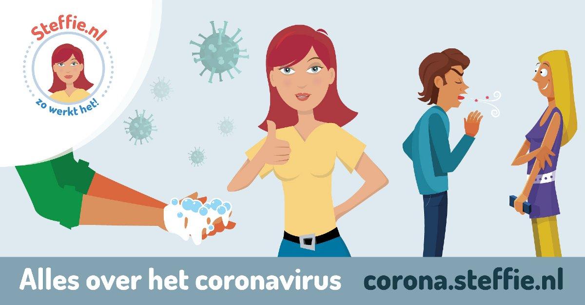 Webhulp Steffie helpt tegen het coronavirus