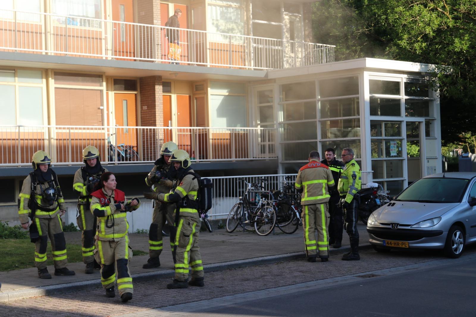 Flat aan Boerhaavestraat ontruimd na felle brandkelder