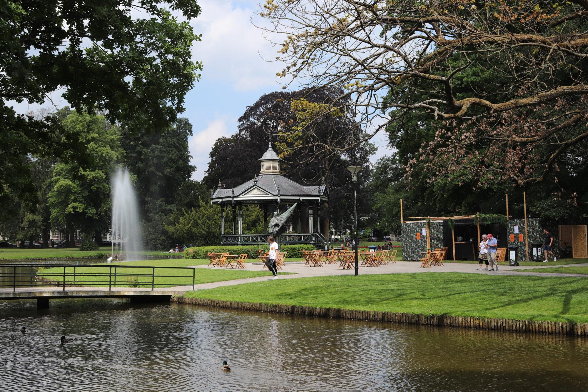 Pop-up terras in het 'mooiste park van Apeldoorn'