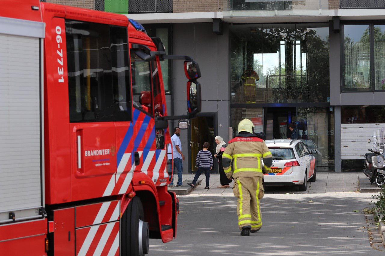 Brandweer rukt groots uit naar Gentiaanstraat, maar treft geen brand aan