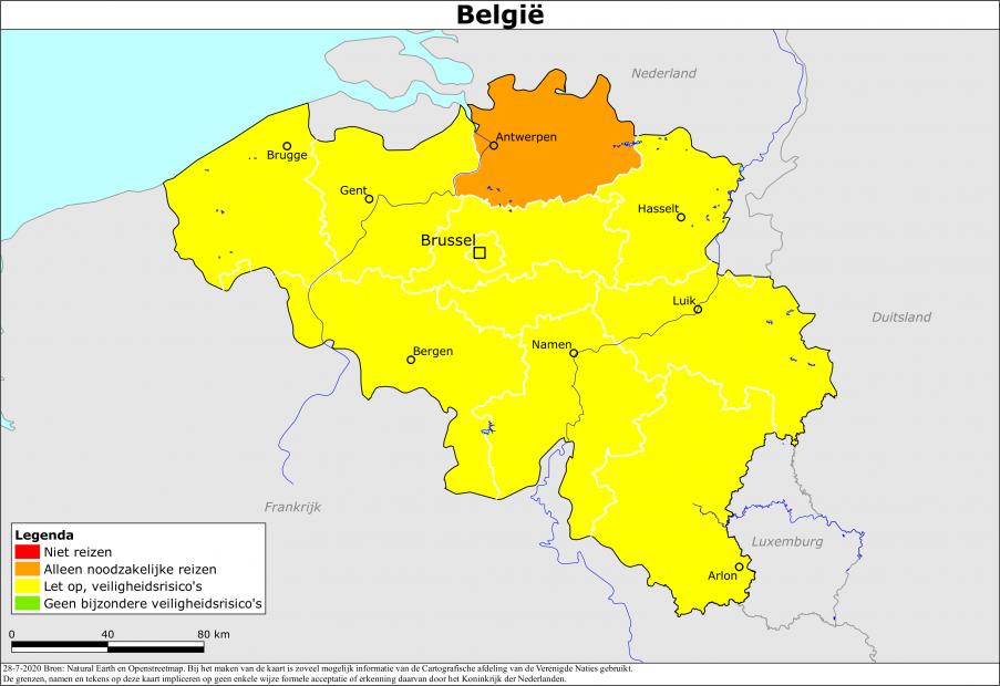 Reisadvies Nederland en België aangepast door beide landen