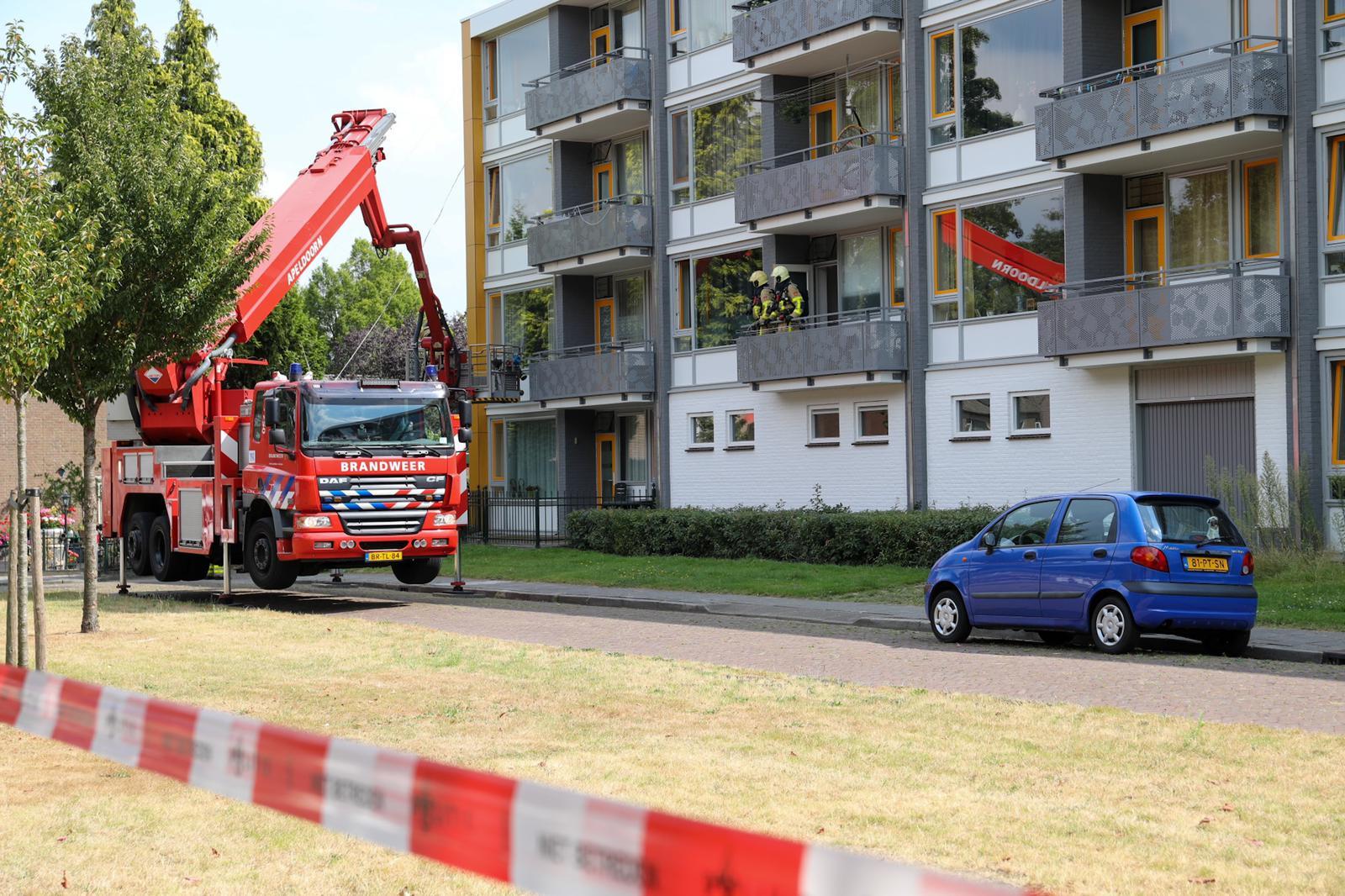 Brand in appartementencomplex in Vaassen; mogelijk sprake van brandstichting