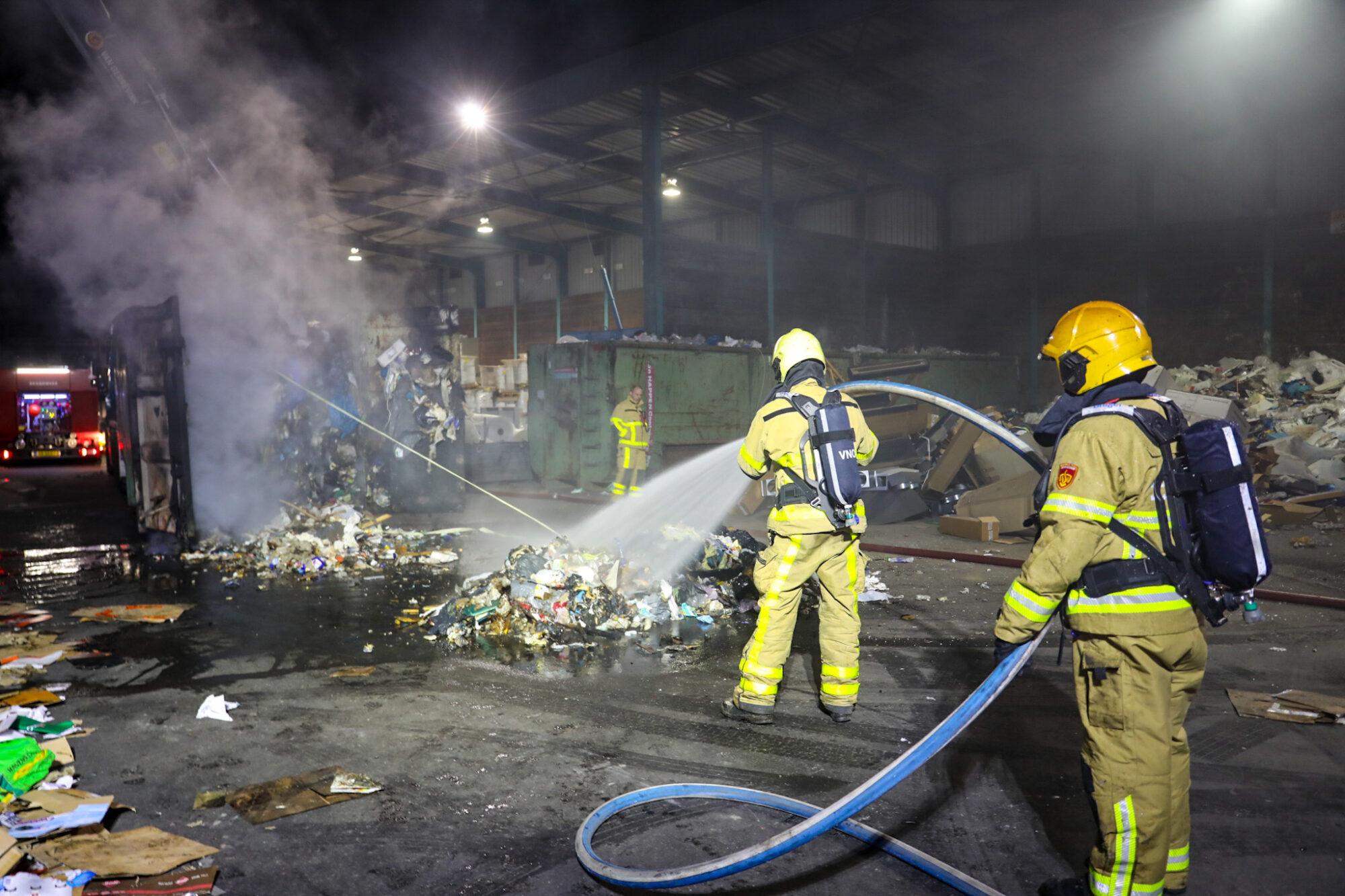 Brand bij afvalverwerker