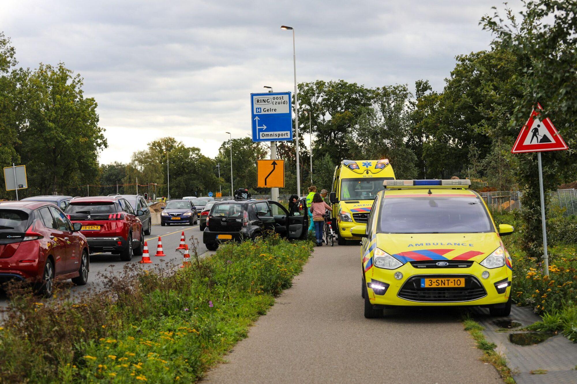 Flinke verkeershinder op Laan van Erica in Apeldoorn