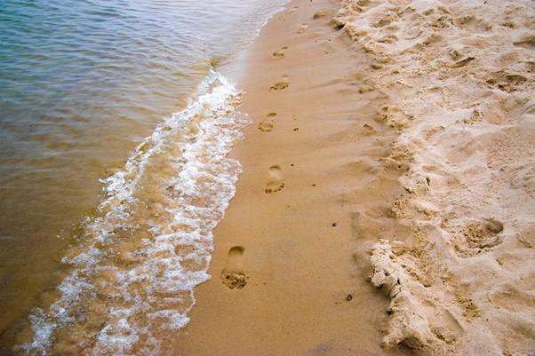 Naar het strand in de omgeving van Apeldoorn