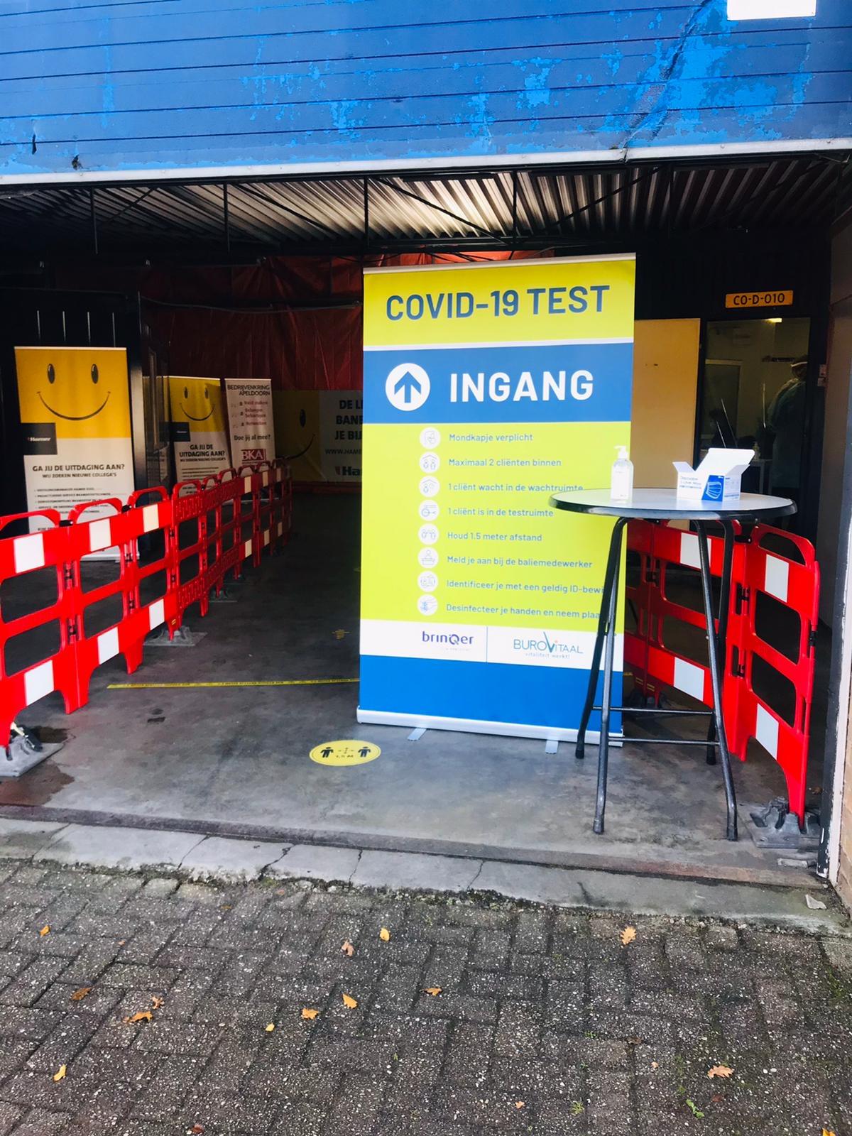 Eerste Covid19 snelteststraat Apeldoorn is een feit!