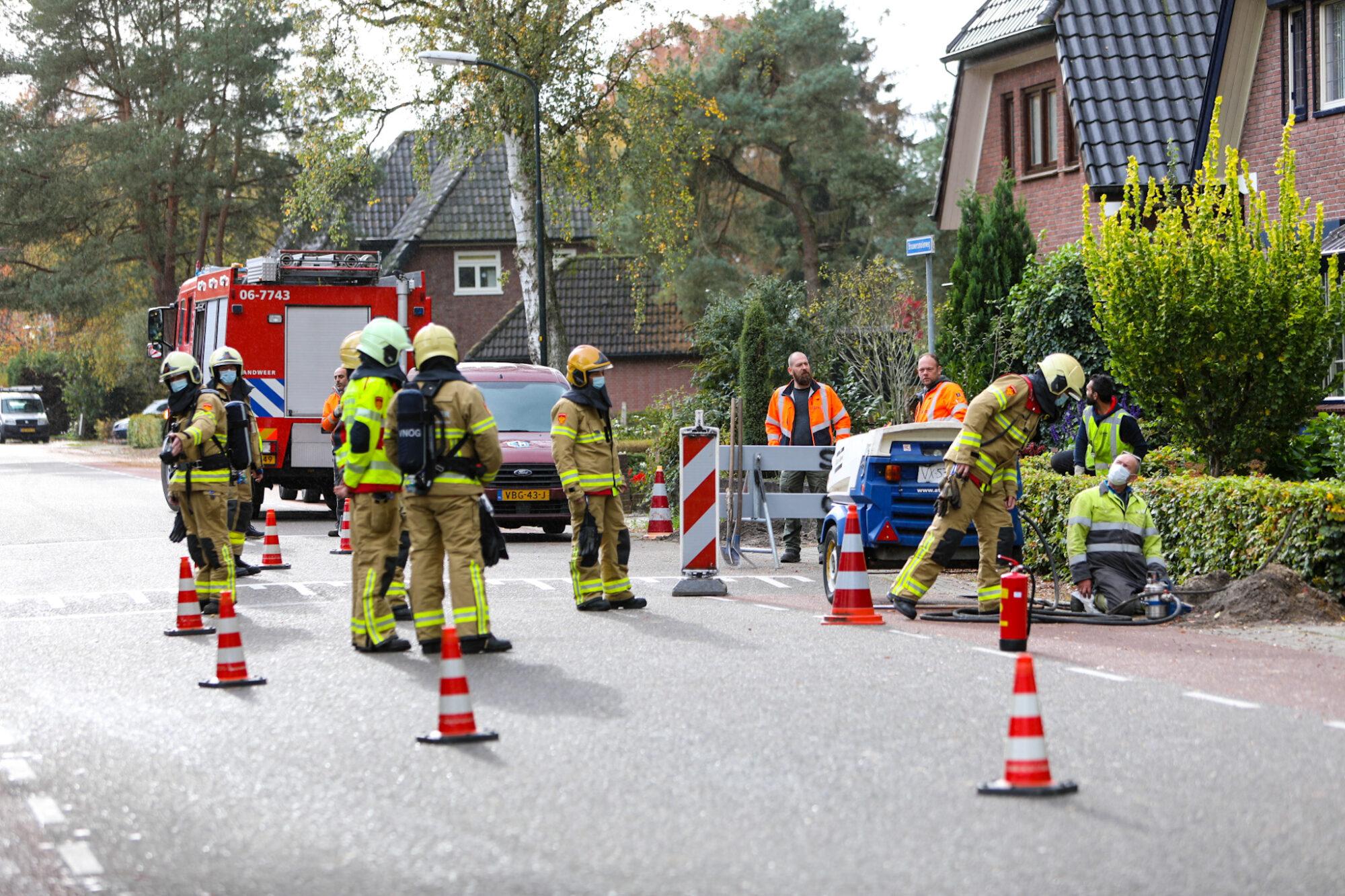 Gasleiding geraakt aan Brouwersmolenweg in Ugchelen
