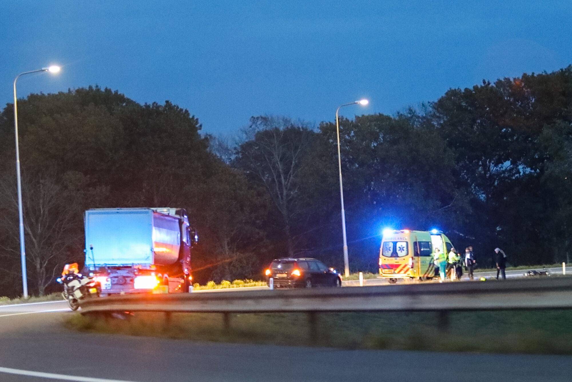 Scooterrijder gearresteerd na ongeval op snelweg richting Zwolle.