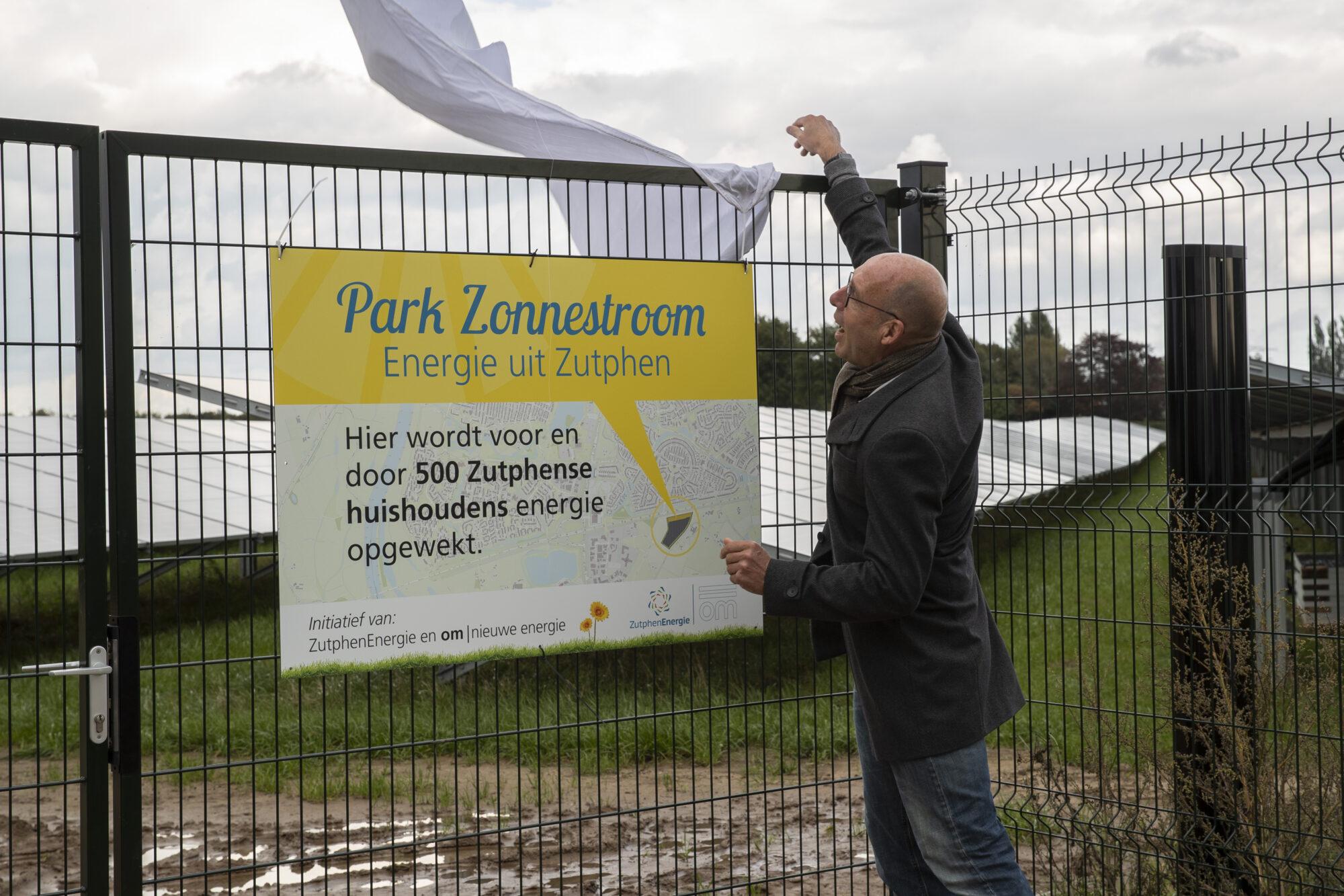 Trots op het grootste zonnepark in Zutphen
