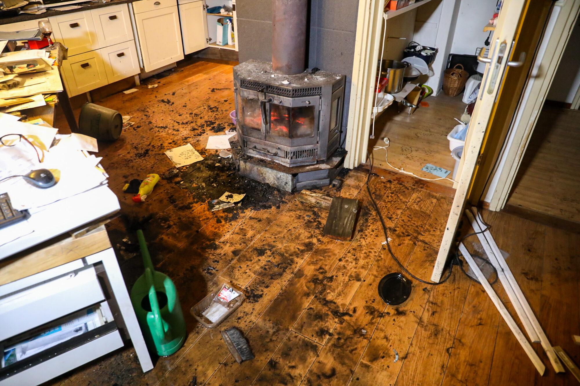 Woningbrand in Tonden; geen gewonden, wel fikse schade