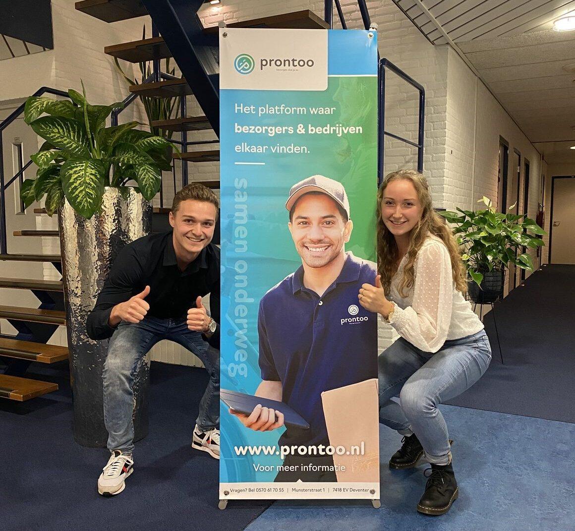 Prontoo: Platform voor bezorgers en bedrijven in Deventer