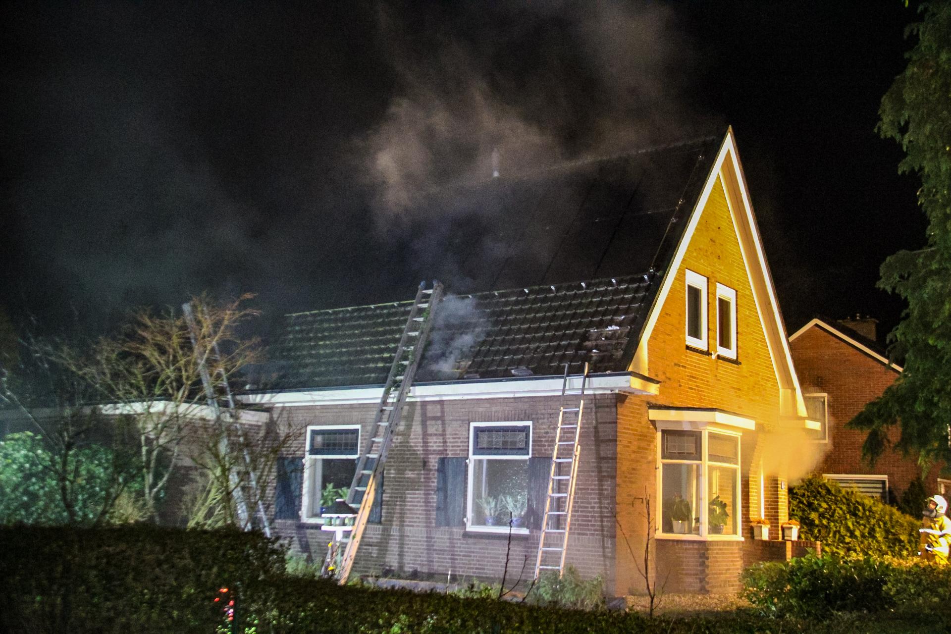 Flinke rookontwikkeling bij brand in Terwolde