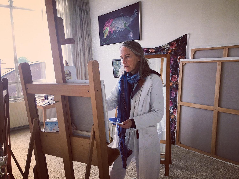 Zutphense schilderes Irmgard Lamers: 'Focus als kunstenaar weer hervonden'