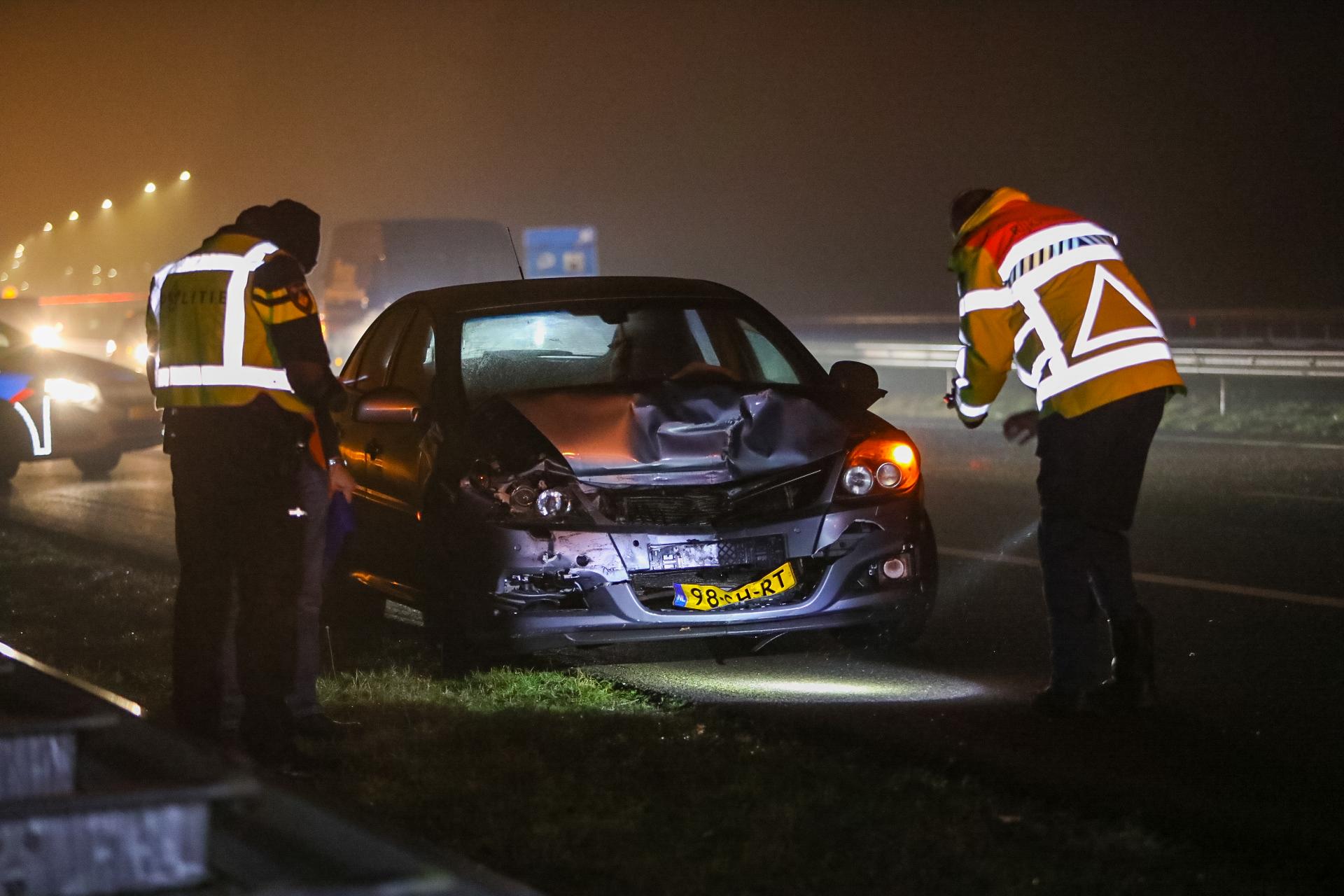Bestuurder aangehouden na aanrijding op A1 bij Ugchelen