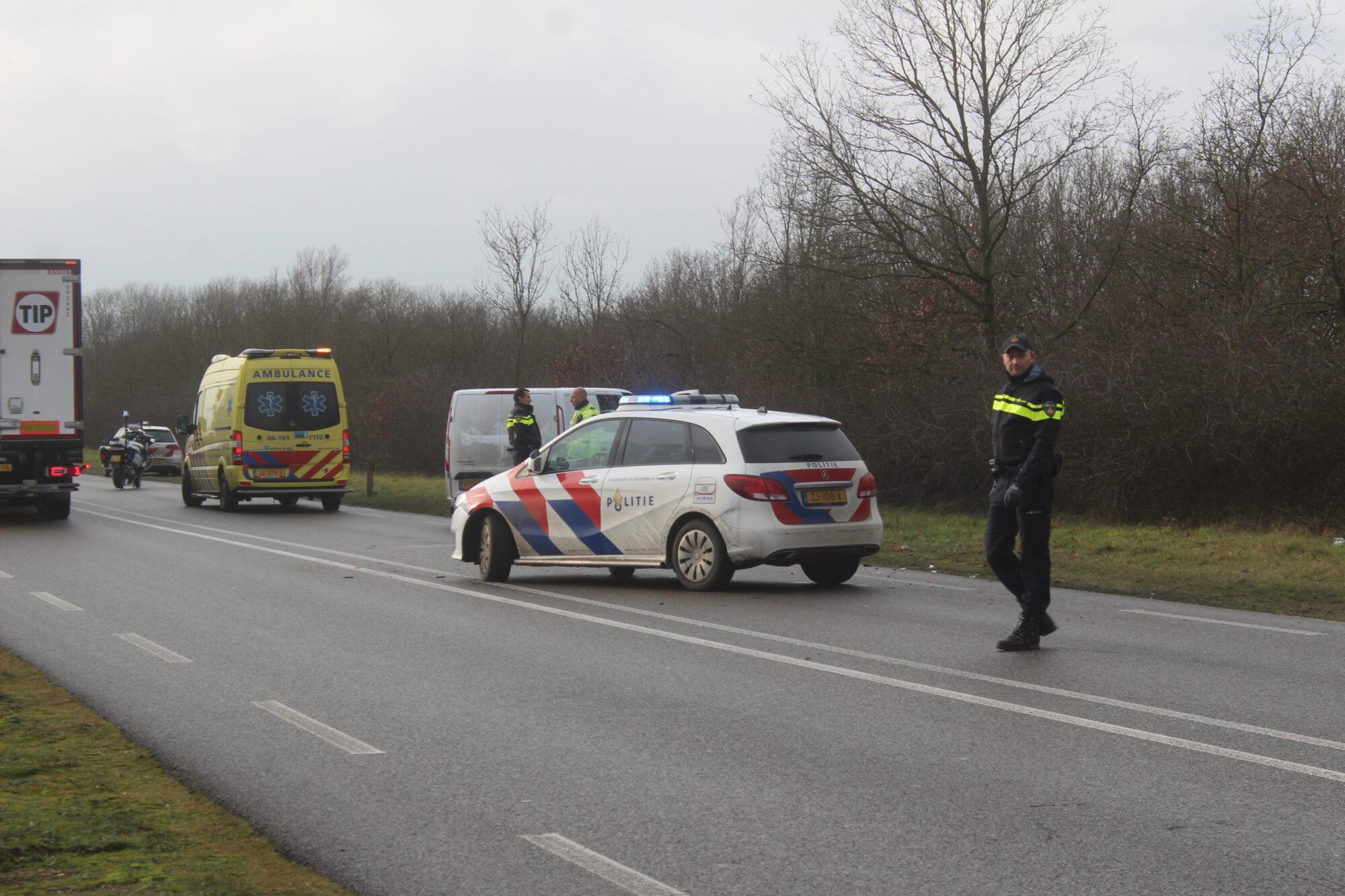 Forse file op N348 tussen Brummen en Zutphen na aanrijding