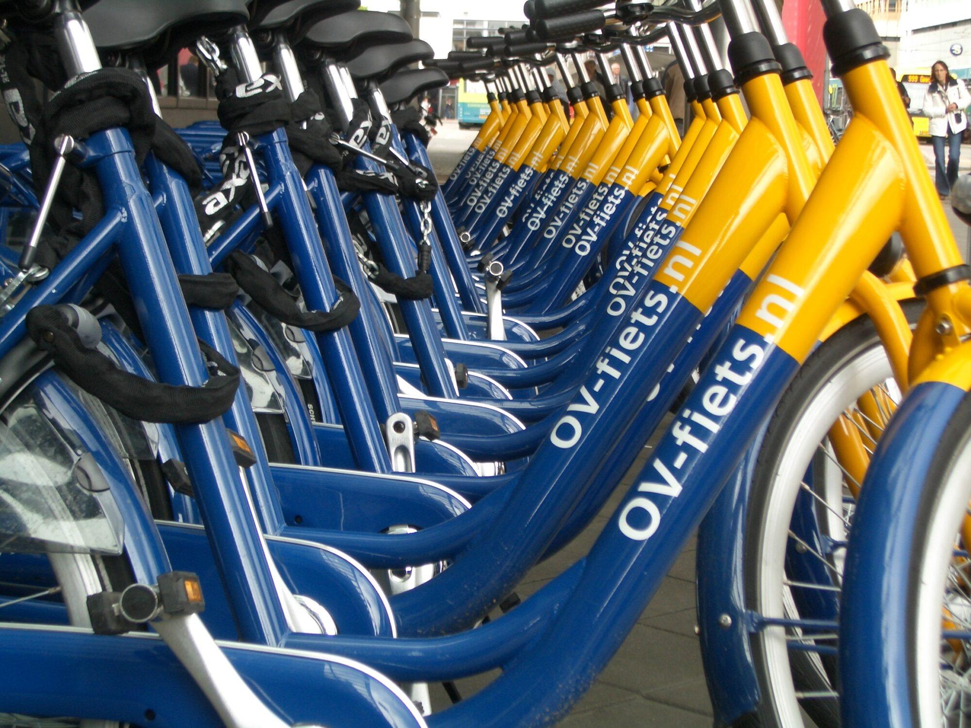 OV-fiets van het slot met ov-chipkaart