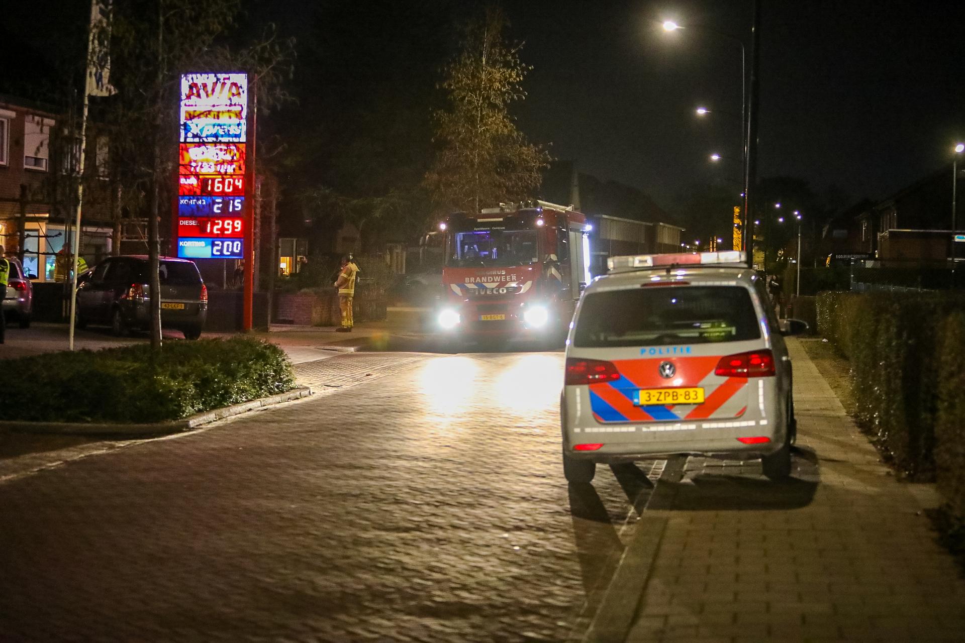 Brandweer rukt uit voor woningbrand aan de Oude Beekbergerweg