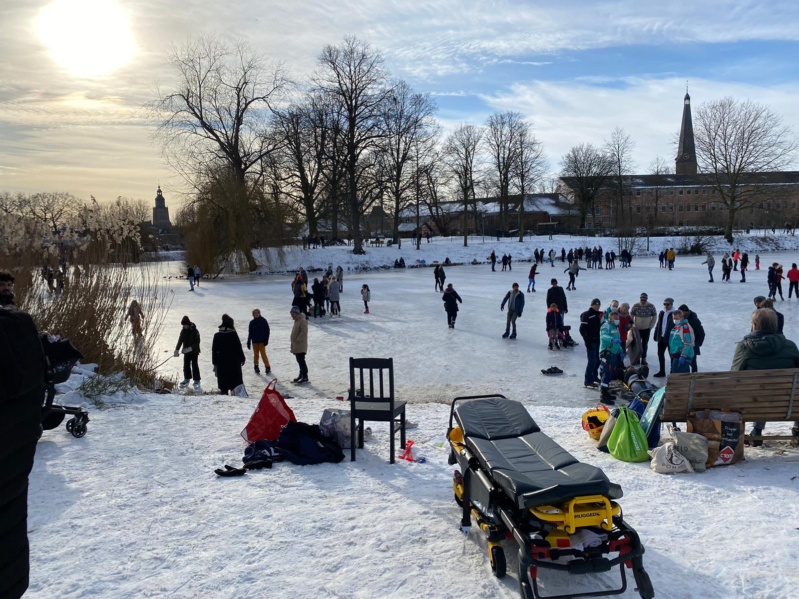 Schaatser gewond op grote gracht in Zutphen