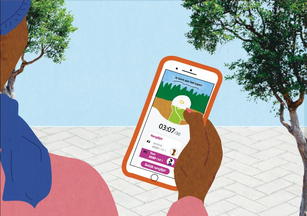Een derde (thuis)werkers legt rondje vast in app