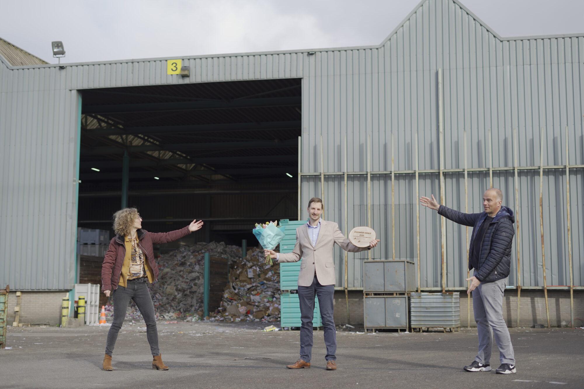 Van Gerrevink Recycling trotse ontvanger van de Zonnedak-award 2020